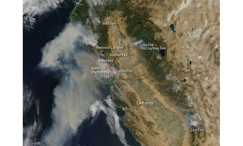 Image: Wildfires running amok in California
