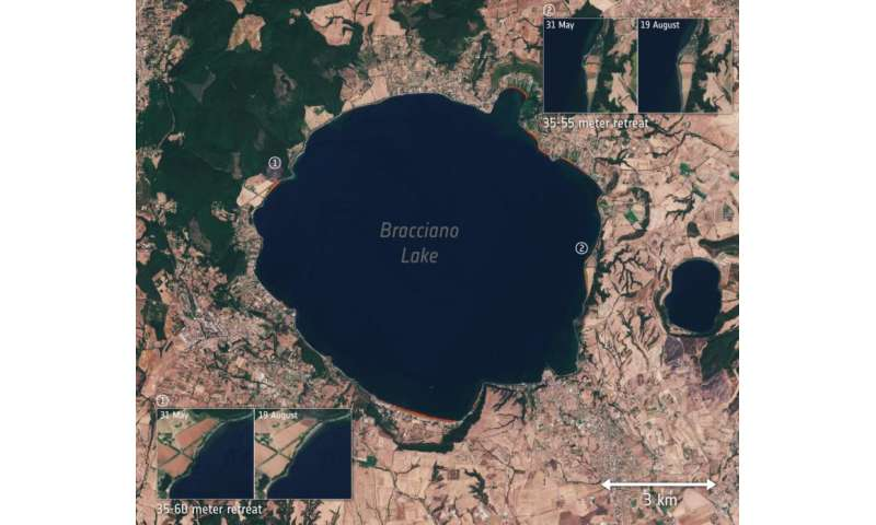 Italy's drought seen from space