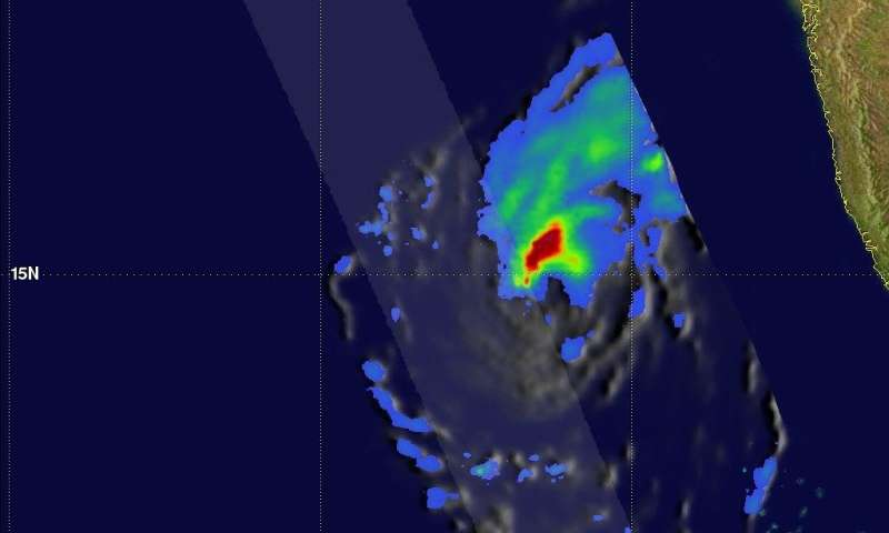 NASA gets a final look at Tropical Cyclone Ockhi's rainfall