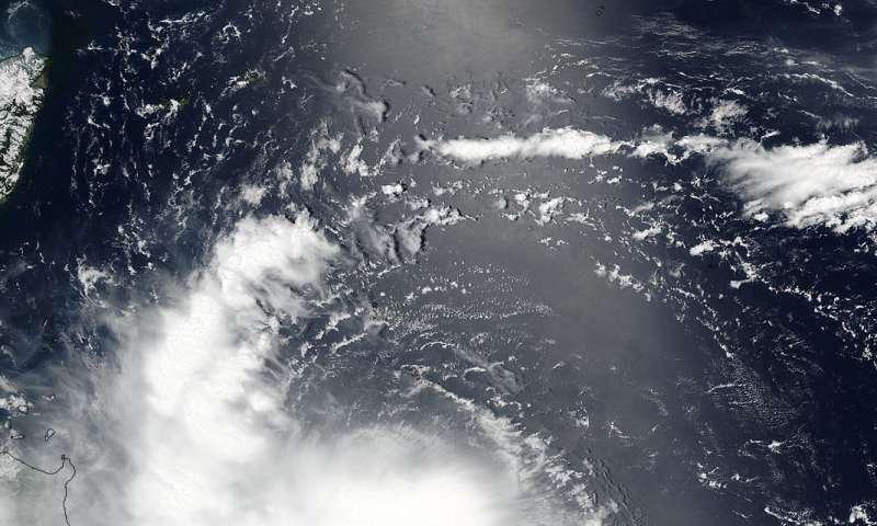 NASA-NOAA satellite spots Tropical Storm Nesat being sheared