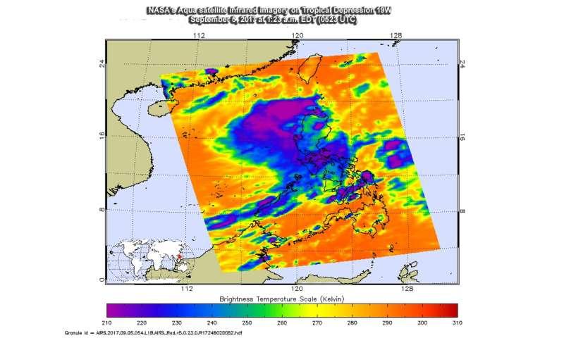 NASA sees development of Tropical Depression 19W