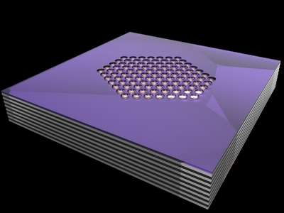 Physicists demonstrate photonic hypercrystals for control of light-matter interaction