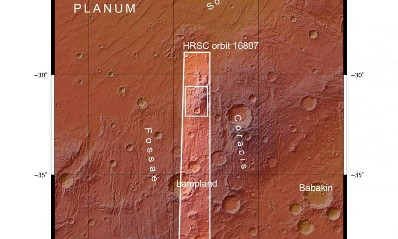 Preserving the stress of volcanic uprise on Mars