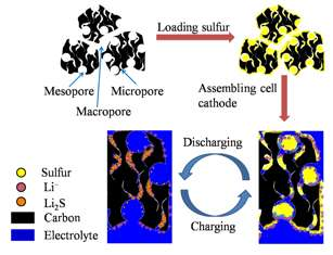 Researchers optimize the assembly of micro-/meso-/macroporous carbon for Li-S batteries