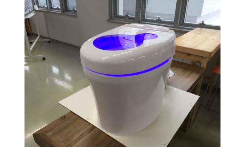 Science walden 'waterless toilet' displayed at DDP