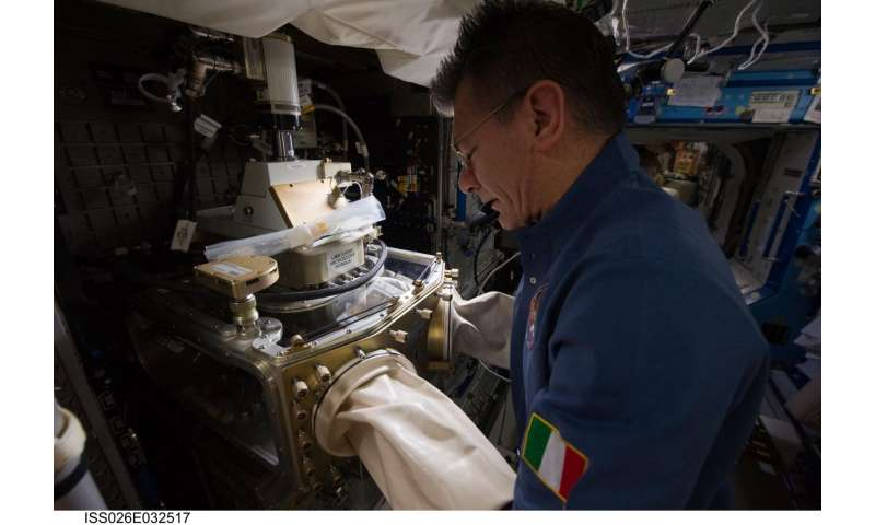 Space station crew cultivates crystals for drug development