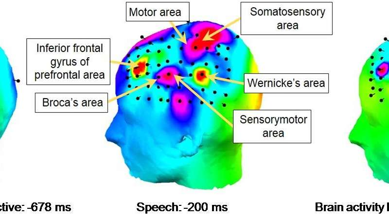 Success in recognizing ddigits and monosyllables with high accurary from brain activity measurement