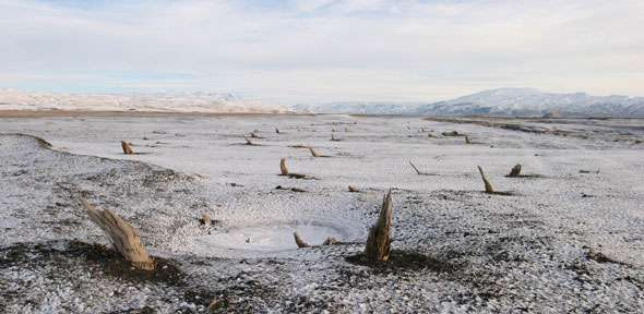 Tree rings pinpoint eruption of Icelandic volcano to half a century before human settlement