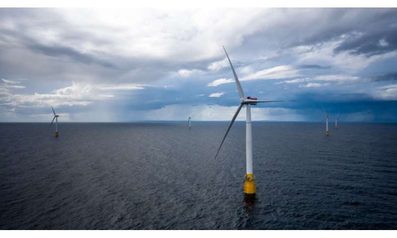 Wind turbines off coast of Scotland make waves in renewable energy