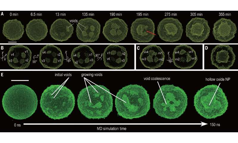 Study reveals mystery behind formation of hollowed nanoparticles during metal oxidation