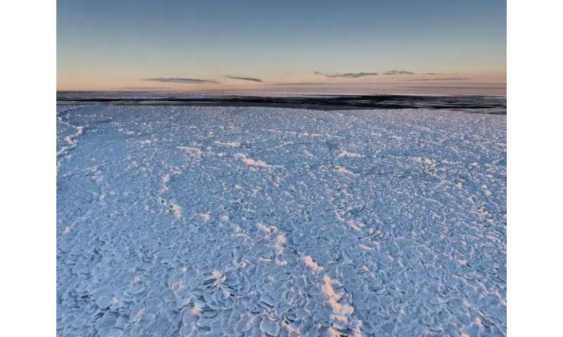 "Researchers spot rare Antarctic ""dragon-skin"" ice"