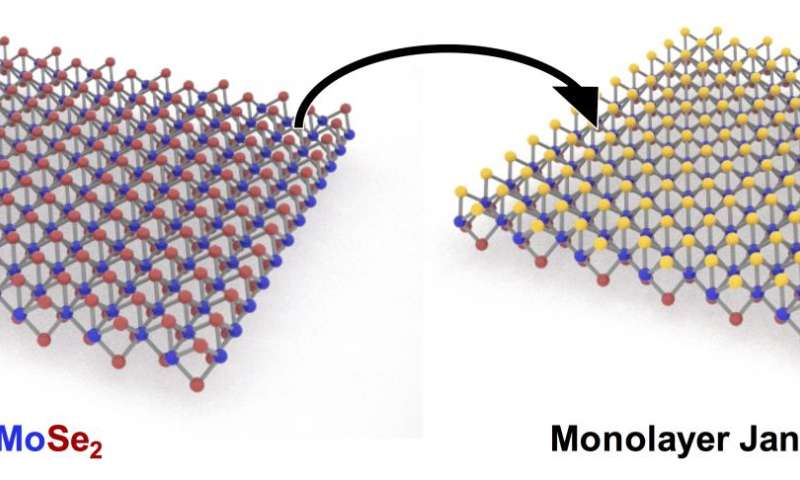 2-faced 2-D material is a first at Rice