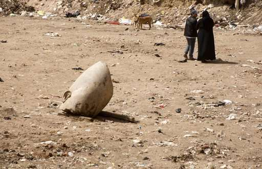 Archeologists in Egypt discover massive statue in Cairo slum