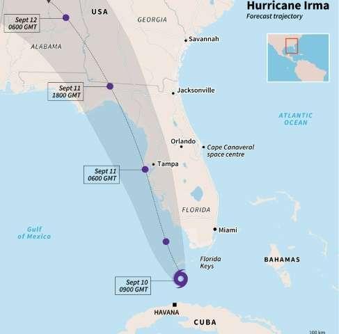 Hurricane Irma reaches Florida