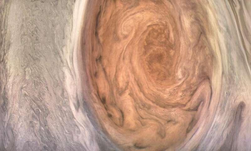 Juno spacecraft spots Jupiter's Great Red Spot