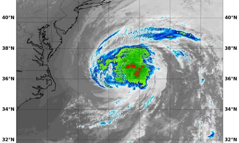 NASA sees Maria weaken to a Tropical Storm