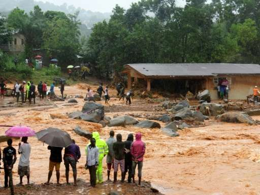 The government of Sierra Leone has promised relief to the more than 3,000 people left homeless by flooding and mudslides in the