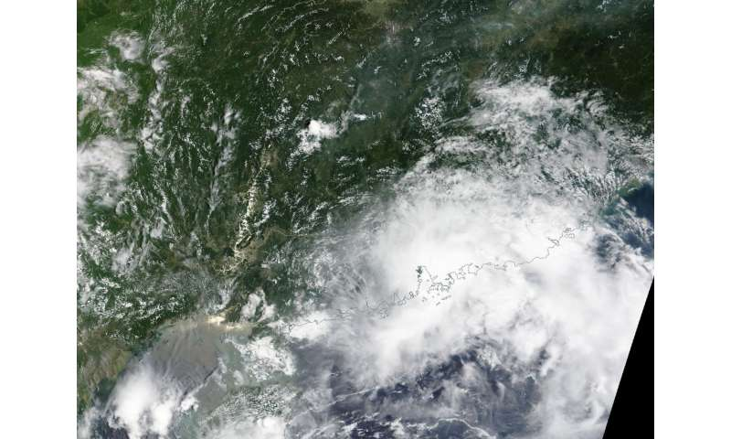 NASA sees Tropical Depression Roke over Hong Kong