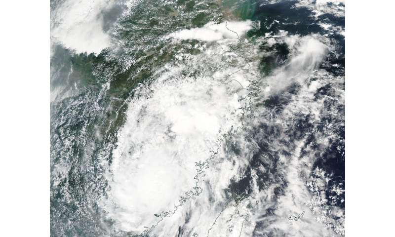 NASA sees Tropical Storm Nesat landfall in China