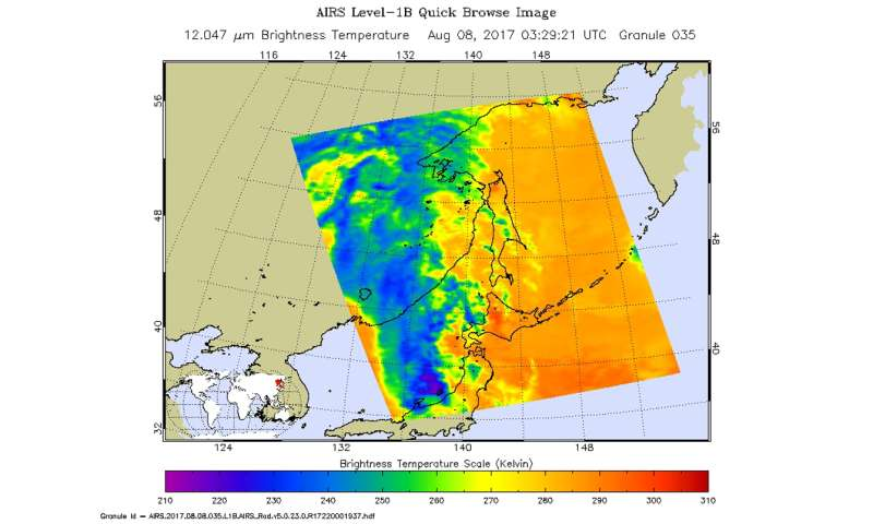 NASA sees Tropical Depression Noru fading over Japan