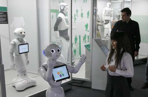 Exhibition charts 500 years of evolution of robots