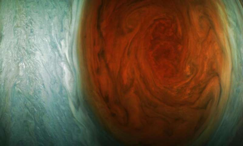 Juno spacecraft spots Jupiter's Great Red Spot