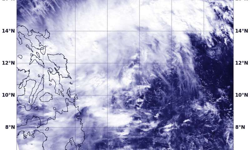 NASA sees developing system 96W affecting central Philippines