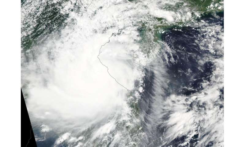 NASA sees Typhoon Doksuri making landfall in Vietnam