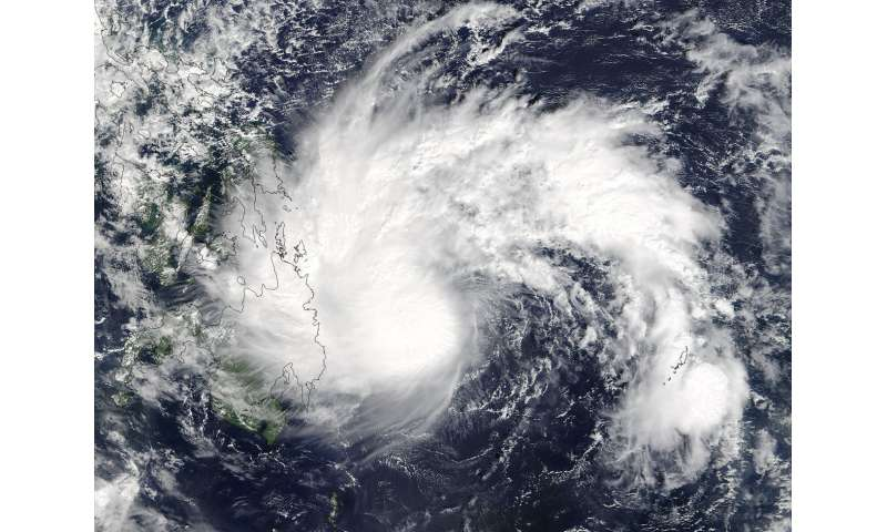NASA spots Tropical Storm Tembin form
