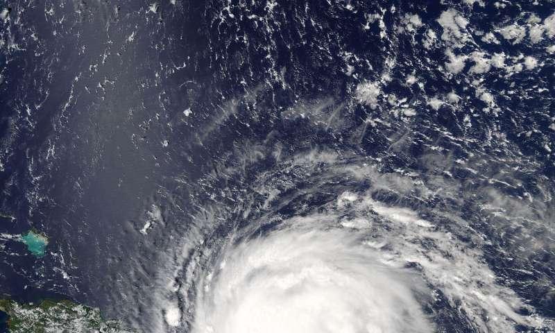 Satellites show different sides of Hurricane Irma