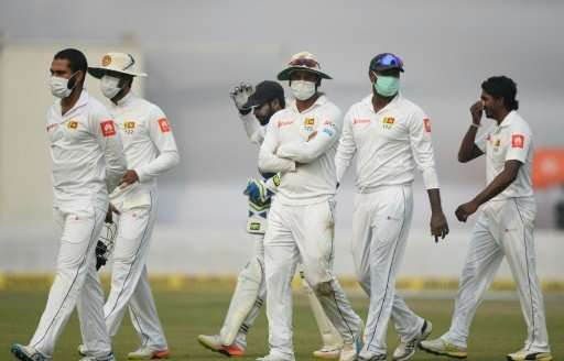 Unprecedented scenes of Sri Lankan cricketers wearing face masks have reignited debate about hosting major sports in heavily pol