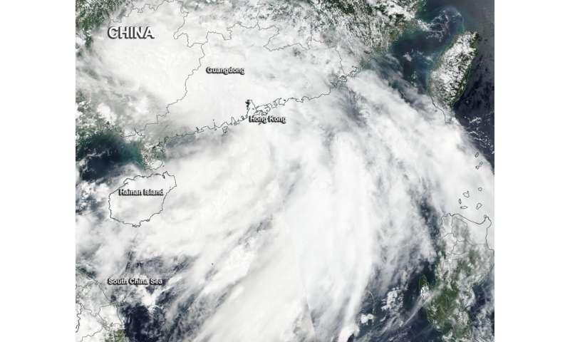 NASA sees Tropical Storm Pakhar after landfall