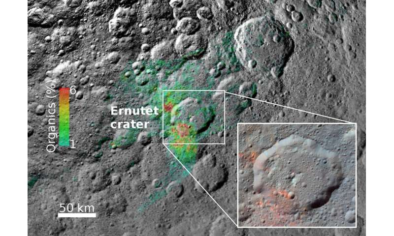 Scientists dig into the origin of organics on Ceres