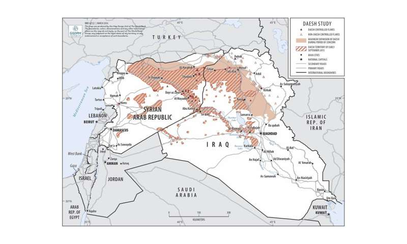 Satellite imagery reveals decline in ISIS oil production