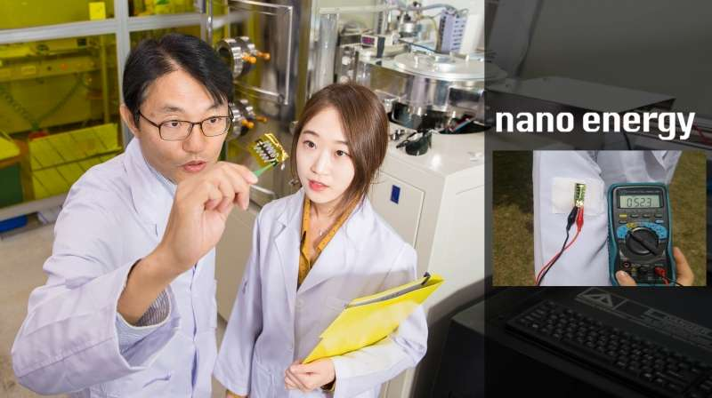 UNIST researchers develop wearable solar thermoelectric generator