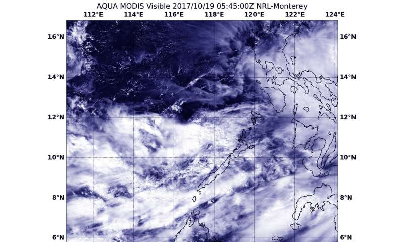 NASA sees Tropical Depression 26W form and quickly unravel