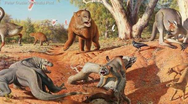Climate change helped kill off super-sized Ice Age animals in Australia