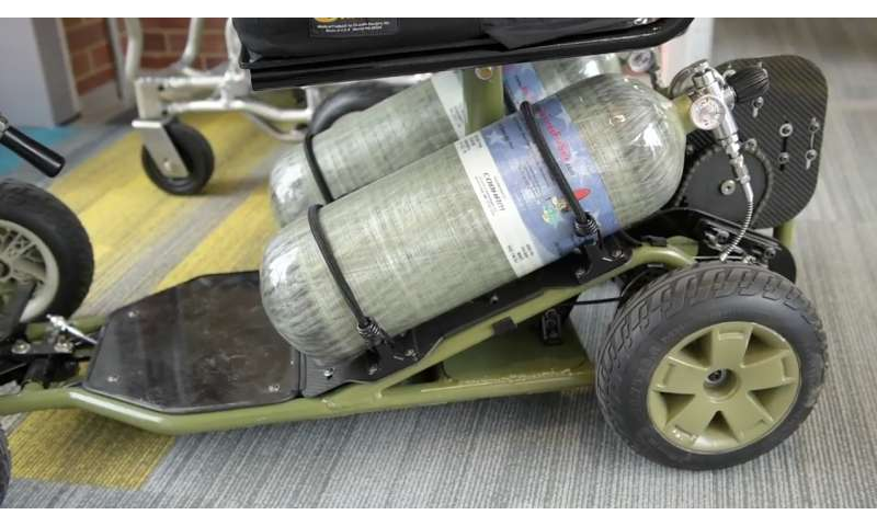 Pitt designs new wheelchair powered by compressed air