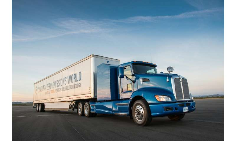 Toyota: Hydrogen fuel cell system for  truck use to be studied