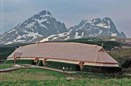 Iron-age Viking longhouses were burned and buried in funerals