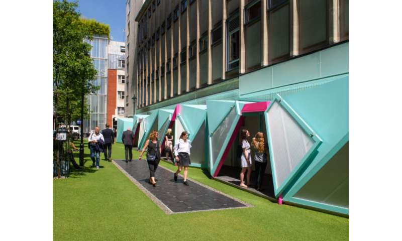 Energy, bird sounds and lights are showcased on London smart street