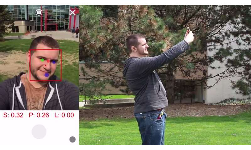 An app for the perfect selfie: Algorithm direct user where to position camera for best photo