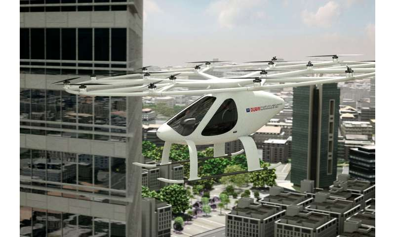 Driverless hover-taxi makes first 'concept' flight in Dubai