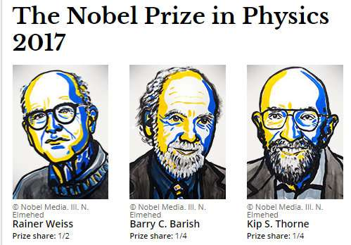 BREAKING: The Nobel Physics Prize is awarded to 3 scientists for discoveries in gravitational waves.