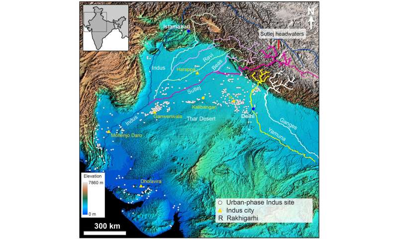 Harappa World Map.Scientists Show How Himalayan Rivers Influenced Ancient Indus