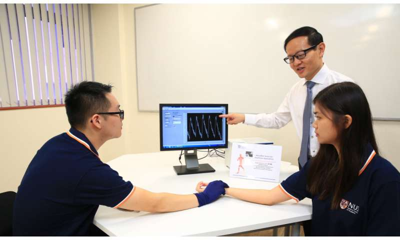 NUS researchers develop smart, ultra-thin microfibre sensor for real-time healthcare monitoring and