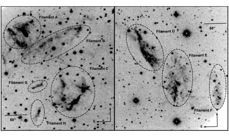Researchers study kinematics of the supernova remnant G109.1-1.0
