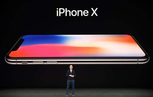 Apple CEO Tim Cook speaks about the new iPhone X during a media event at Apple's new headquarters in Cupertino, California