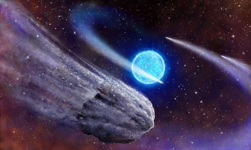 Citizen scientist spots comet tails streaking past distant star