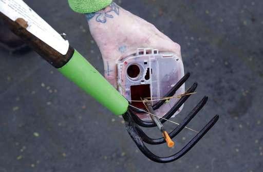 'It's raining needles': Drug crisis creates pollution threat